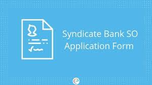 Syndicate Bank Syndicate Bank So Application Form Apply Syndicatebank