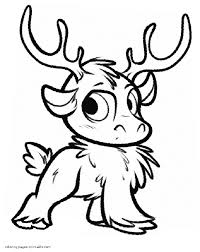 Sven Coloring Pages Frozen Anna Page Sven Coloring Pages s