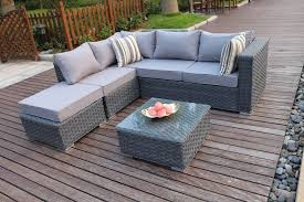 details about yakoe conservatory 5 seater rattan corner sofa set garden furniture with cover