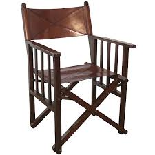 deluxe director s chair safari chair tan cowhide leather exotic wood brass