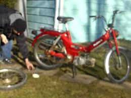 puch maxi moped rear wheel change and cold start