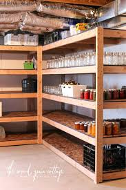 wooden storage shelves basement shelving by the wood grain cottage how to build wood storage shelves