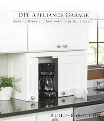Appliance Garages Kitchen Cabinets Build A Diy Appliance Garage Build Basic