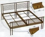 Сделать кровать из металла чертежи
