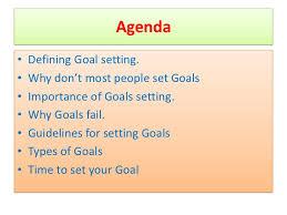 goal setting ppt 4 agendabull defining goal setting