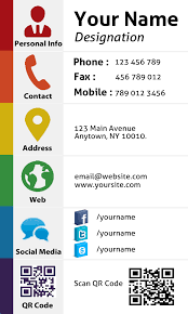 Personal Info Cards Design Personal Social Media Business Card By Graphixdesigner
