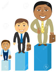 cartoon asian caucasian and afro american mens at different vector cartoon asian caucasian and afro american mens at different stages of career development