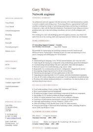 Network Engineer Cv Sample Cv Examples Technology Job Description
