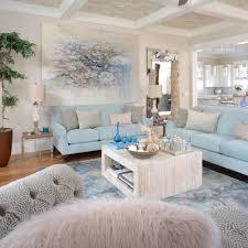 beach living room furniture. Coastal Living Room With Baby Blue Sofas Beach Furniture