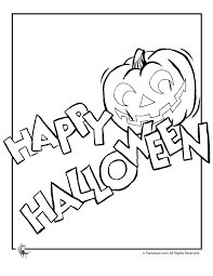 Small Picture Happy Halloween Coloring Page Woo Jr Kids Activities