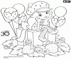 Kleurplaten Anna Aardbei Strawberry Shortcake Kleurplaat