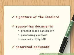notarized letter how to write a letter for proof of residence with sample letter