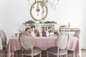 french country fall dining room purple and green so much better with age