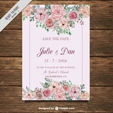 wedding invitation vectors, photos and psd files free download Free Downloads Evening Wedding Invitations wedding card with flowers on a pink background Free Online Printable Wedding Invitation