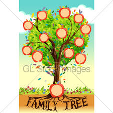 Family Tree Tree Template Family Tree Template Gl Stock Images