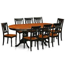 East West Furniture Plainville 7 Piece Table With Double Pedestal