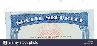 USA Social Security Card isoliert gegen ...