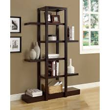 ... Display Bookshelf Cappuccino 71 Inch Open Display Shelf L14344662 Full  size