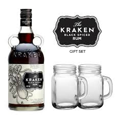 the kraken black ed rum gift set
