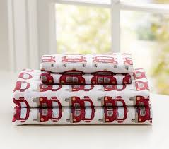 fire truck flannel sheeting kids bedding san francisco