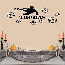 removable vinyl mural decal es art vinyl wall decal wall stickers art decor custom name football player for bedroom