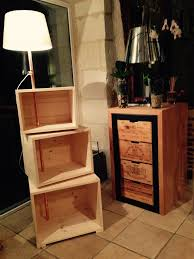 pallet crate furniture. pallet side table with fixed lamp crate furniture i