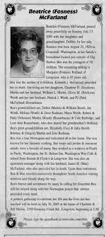 Obituary for Beatrice McFarland, 1924-2005 (Aged 95) - Newspapers.com