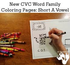 Word Family Coloring Pages New Cvc Word Family Coloring Pages Short A Vowel 3 Dinosaurs