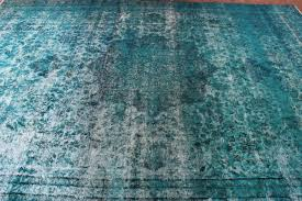 circa 1940s antique reloaded green turquoise rug