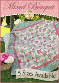 Romantic Roses Pieced Quilt Pattern - 5 SIZES INCLUDED | Shabby ... & Mixed Bouquet Pieced Quilt Pattern - 5 SIZES INCLUDED Adamdwight.com
