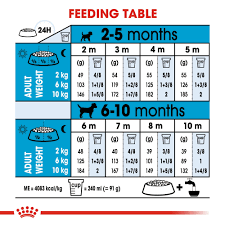 Purina Puppy Feeding Chart Royal Canin Size Health Nutrition Mini Puppy Dry Dog Food 4kg