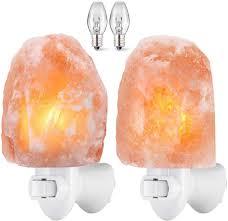 Salt Light Amir Upgraded Salt Lamp Natural Himalayan Crystal Salt Light With 4 Bulbs 11 2oz Mini Hand Carved Night Light With Ul Certified Wall Plug
