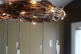 bohemian wood crystal chandelier id lights