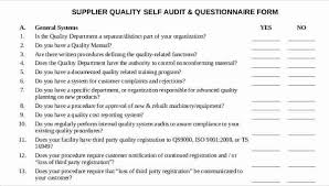 Sample Questionare Free 11 Supplier Questionnaire Form Samples In Sample