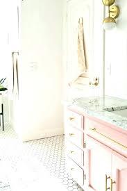 pink and gold bathroom decor white accessories elegant walls powder ideas