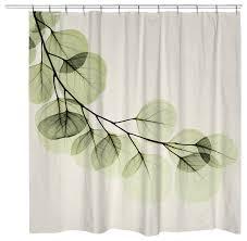 Eucalyptus Shower Curtain contemporary-shower-curtains