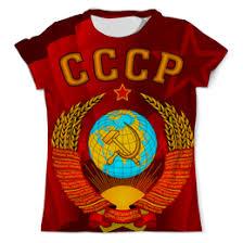 """Футболки c дизайнерскими принтами """"Россия"""" - приобрести ..."""