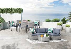 GREY HAMILTON <b>9 Piece Outdoor</b> Package   Amart Furniture