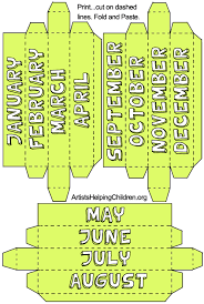 Forever Calendar Template How To Make A Paper Box Perpetual Calendar Kids Crafts Forever