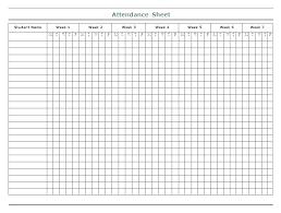 Classroom Attendance Template Free Printable Attendance Sheet