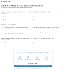 print compound inequality definition concept worksheet