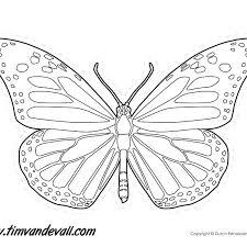 Printable Butterfly Outline Butterfly Outline Printable Momchilovtsi Info