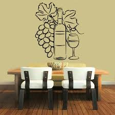 Cafe Decorations For Kitchen Wall Decals Wine Vinyl Sticker Grapes Decal Cafe Art Design