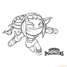 Skylanders Imaginators Coloring Pages Clrg