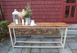 simple sofa table free plans jaime