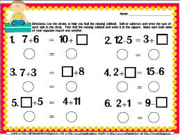 free balance the equation common core aligned printable for first grade