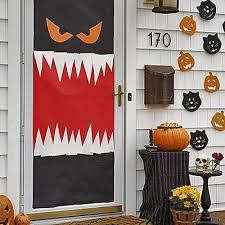 19 Hauntingly Awesome Halloween Door Decorating Ideas Spaceships Halloween  Door Decor
