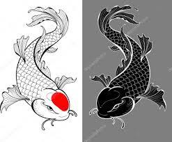 карпы тату карпы кои тату векторное изображение Koryaba 119933968