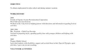 Free Quick Resume Builder High School Student Resume Format