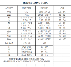 Motorcycle Helmet Measurement Chart Vega